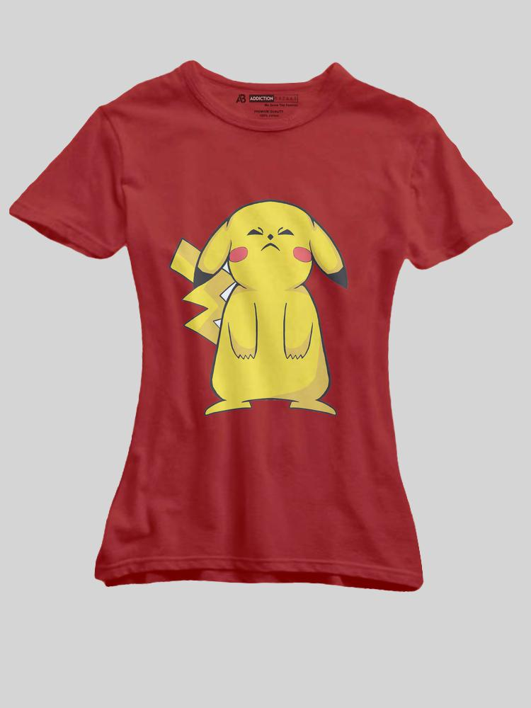 87d5dc34131 Pikachu Cartoon T shirt for Girls   Upto 35 % OFF   – ikoumerce